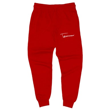 Taylor J Takeover Signature Sweatpants (Red/White)