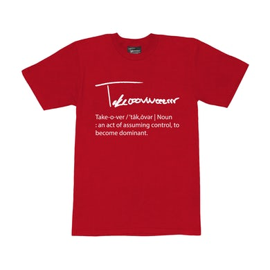 Taylor J Takeover Definition T-Shirt (Red/White)