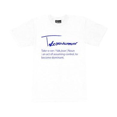 Taylor J Takeover Definition T-Shirt (White/Royal Blue)