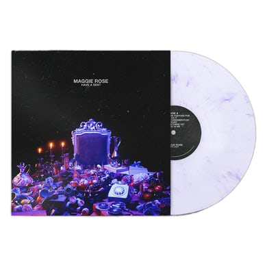 Maggie Rose HAVE A SEAT WHITE MARBLE VINYL - WEBSTORE EXCLUSIVE!