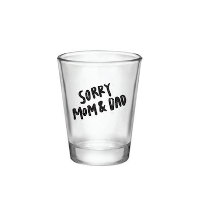 "Liddy Clark ""sorry mom & dad"" Shot Glass"