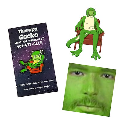 Therapy Gecko GECK PIN & STICKERS BUNDLE