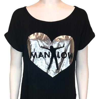 Barry Manilow Tunic Foil Heart Shirt