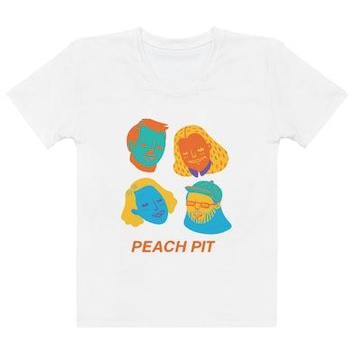 Peach Pit Faces Tee - Womens