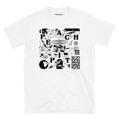 Peach Pit Shapes Tee