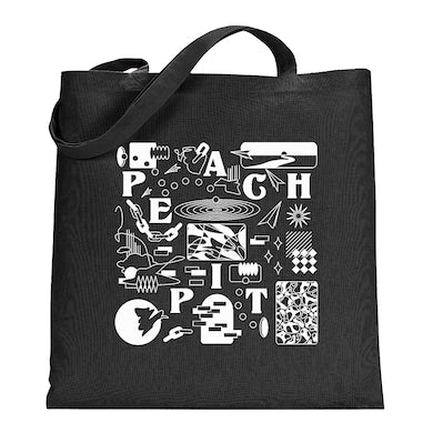 Peach Pit Shapes Tote
