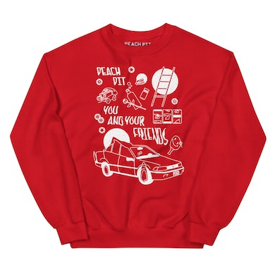Peach Pit You and Your Friends Crewneck