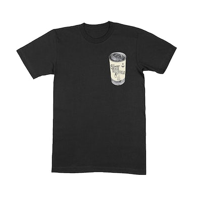The White Buffalo  Beer Can Black T-Shirt