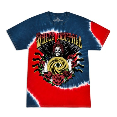 The White Buffalo  Fortune Teller Red/Blue Tie Dye Shirt