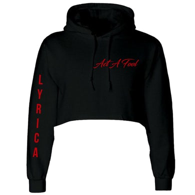 Lyrica Anderson Act A Fool Pocket Logo - Cropped Hoodie