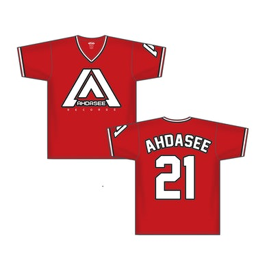 Ahdasee Red Pullover Baseball Jersey