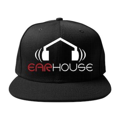 Krizz Kaliko Ear House Logo Flat Bill Flex Fit Hat