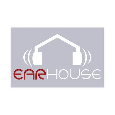 Krizz Kaliko Ear House 6 Inch White and Red Vinyl Sticker