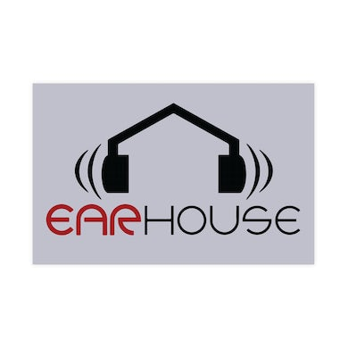 Krizz Kaliko Ear House 6 Inch Black and Red Vinyl Sticker