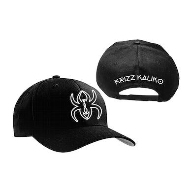 Krizz Kaliko Spider K White and Black logo New Era Snap Back Hat