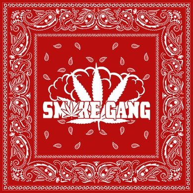 Smoke Gang Red Paisley Bandana