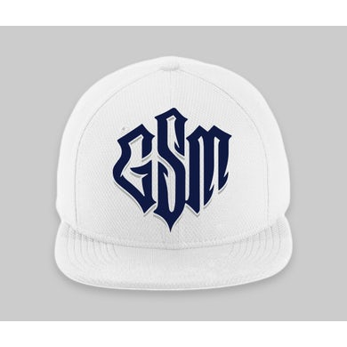Trick Trick GSM Logo White Fitted Hat