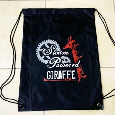 Steam Powered Giraffe Nylon Drawstring Backpack
