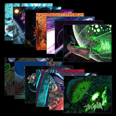 Steam Powered Giraffe Vice Quadrant Timeline Prints (8.5'' x 11'')