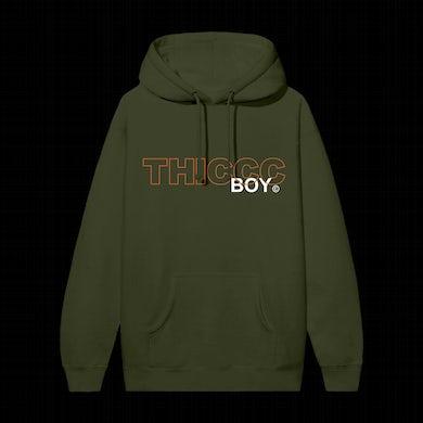 Brendan Schaub Thiccc Boy Army Green Hoodie