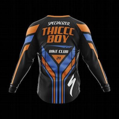 Brendan Schaub Thicccc Boy x Specialized Long Sleeve Orange Jersey