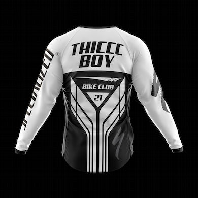 Brendan Schaub Thiccc Boy x Specialized Long Sleeve White Jersey