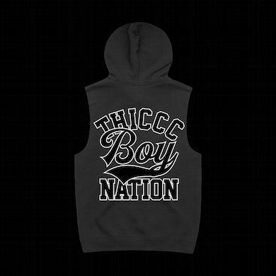 Brendan Schaub Thiccc Boy Nation Black Sleeveless Hoodie