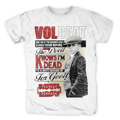Volbeat CHEAPSIDE SLOGGERS WHITE T-SHIRT