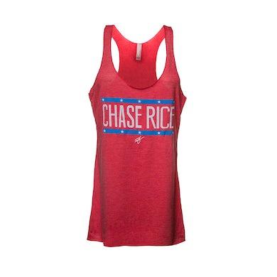 Ladies Chase Rice Flag Racerback Tank