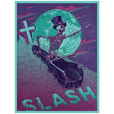 Slash Guitar Coffin Poster