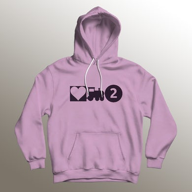 Asiahn Love Train 2 Light Pink Hoodie
