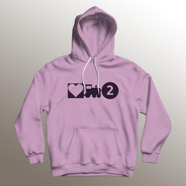 Asiahn Love Train 2 Light Pink Hoodie