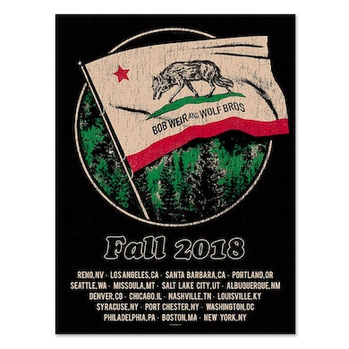 Bob Weir and Wolf Bros. Fall Tour Poster