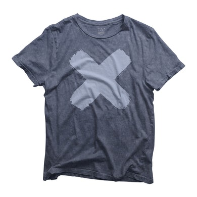 X WASHED BLUE TEE