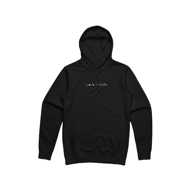 Roy Purdy Love > Hate Embroidered Black Hoodie