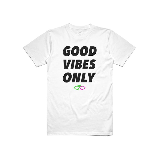 Roy Purdy Good Vibes Only Tee White