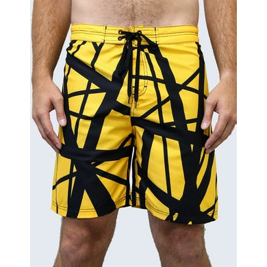 Eddie Van Halen '79 Reverse Board Shorts (Yellow Body/Black)