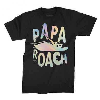 Papa Roach Classic Logo Foil Tee (Black)