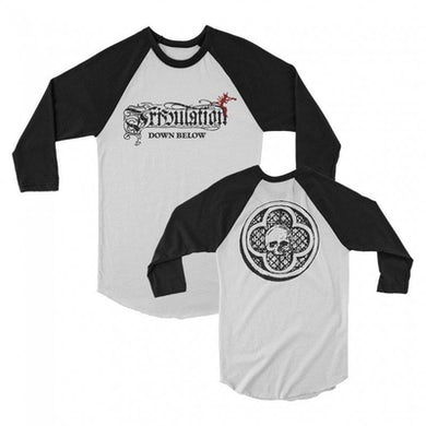 Tribulation Down Below Raglan (White/Black)