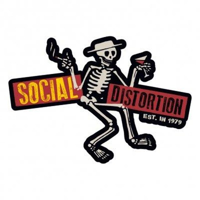 Social Distortion Die Cut Skelly w/Logo Sticker