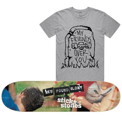 New Found Glory Sticks and Stones Skate Deck (Limited) + Bored To Death Tee