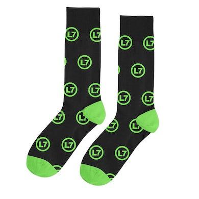 L7 Logo Pattern Socks