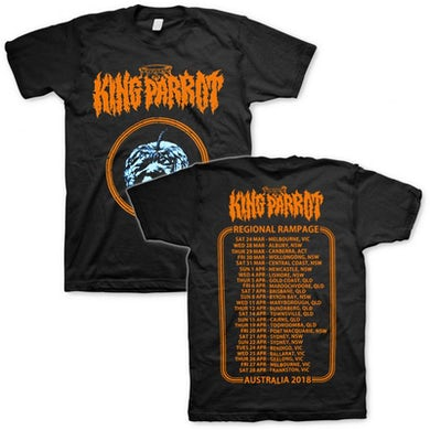 King Parrot Ugly Produce Regional Rampage Tour T-shirt (Black)