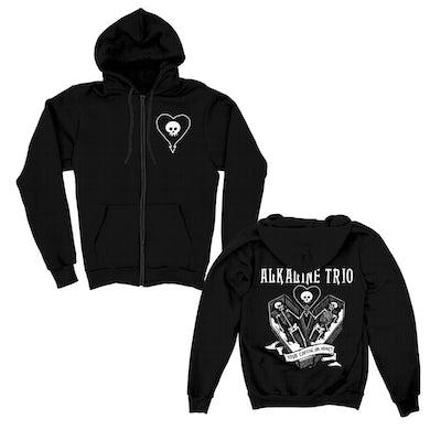 Alkaline Trio Your Coffin Or Mine Zip Hoodie (Black)