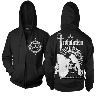 Tribulation Motherhood of God Zip-Up Hoodie (Black)