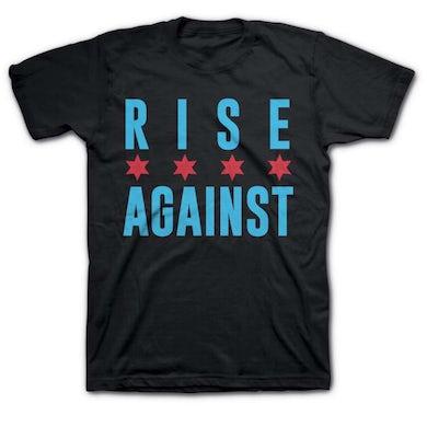 Rise Against Chicago Flag Tee (Black)