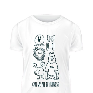 Mia Dyson Can We All Be Friends Tee (White)