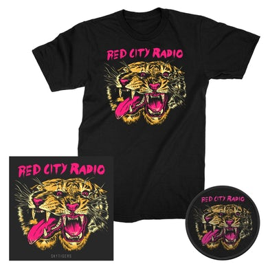 Red City Radio Sky Tigers EP CD + Tee + Patch