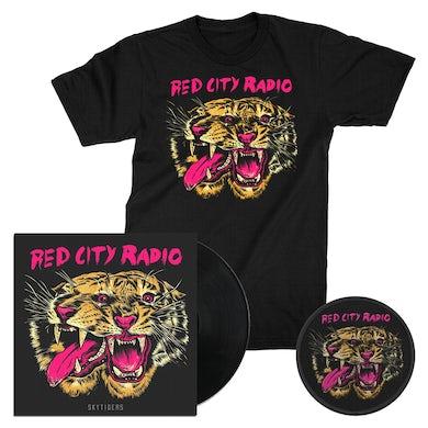 Red City Radio Sky Tigers EP Vinyl (Black) + Tee + Patch