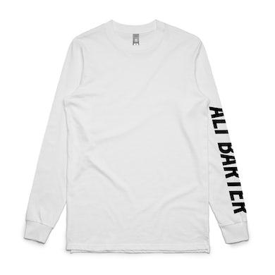 Ali Barter Sleeve Print Womens Longsleeve (White)